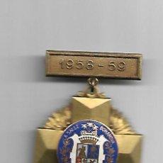 Medallas condecorativas: 1958-59 SALLE BONANOVA MEDALLA EN ESMALTES AL FUEGO. Lote 150997906