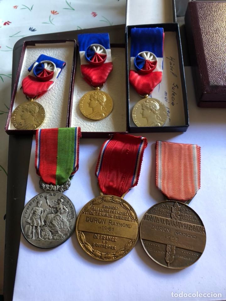 LOTE DE 6 MEDALLAS FRANCESAS CON SUS CAJAS (Numismática - Medallería - Condecoraciones)
