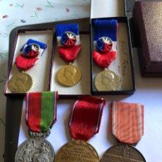 Medallas condecorativas: LOTE DE 6 MEDALLAS FRANCESAS CON SUS CAJAS. Lote 153659948