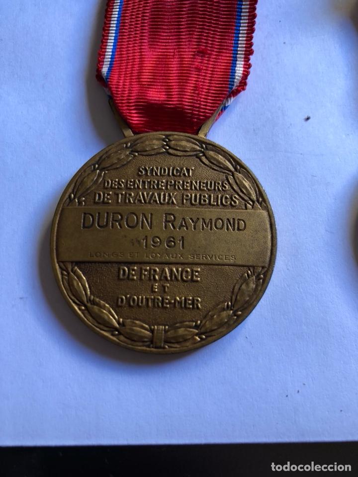 Medallas condecorativas: Lote de 6 medallas francesas con sus cajas - Foto 4 - 153659948