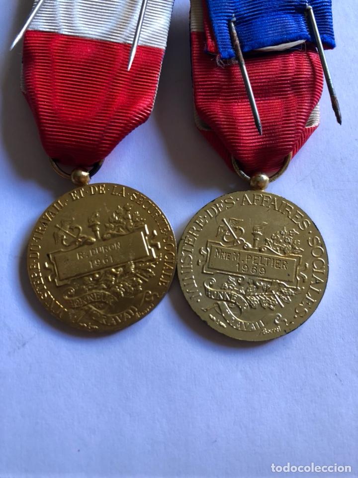 Medallas condecorativas: Lote de 6 medallas francesas con sus cajas - Foto 9 - 153659948