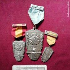 Medallas condecorativas: 4 MEDALLAS AL MÉRITO COLEGIAL. SCIENTIA FIDES ARS. Lote 155622390