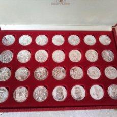 Medallas condecorativas: COLECCIÒN DE 28 MEDALLAS CONMEMORATIVAS DE PLATA 999. Lote 156711918