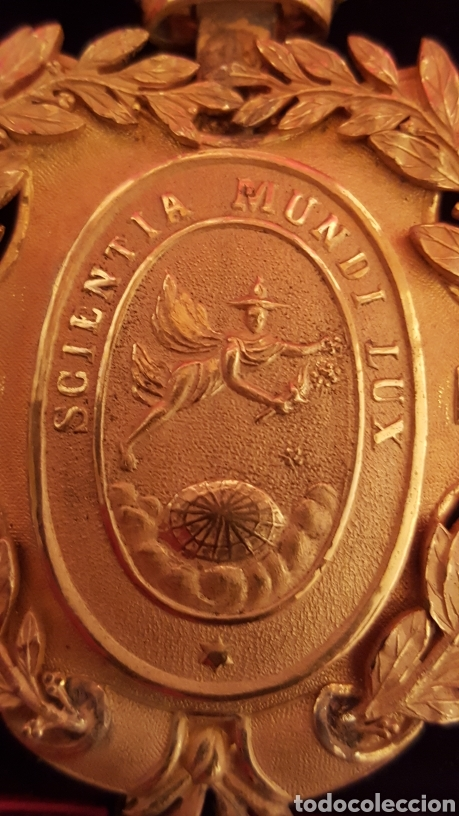 Medallas condecorativas: MEDALLA DE LA REAL ACADEMIA HISPANO AMERICANA - Foto 8 - 157854806