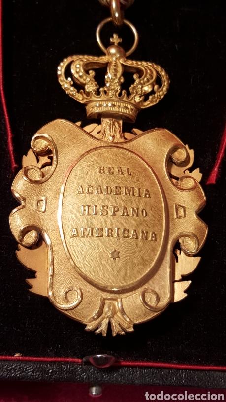 Medallas condecorativas: MEDALLA DE LA REAL ACADEMIA HISPANO AMERICANA - Foto 9 - 157854806