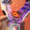 Medallas condecorativas: MEDALLA GASTRONOMICA CON BANDA CHAINE DES ROTISSEURS 1248-1950. -CHEF-COCINA---ESPAÑA. Lote 160657938