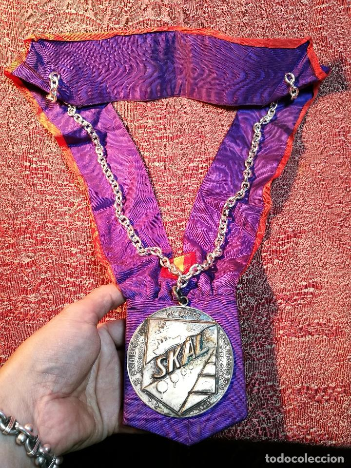 GRAN MEDALLON III EXHIBICION NACIONAL DE ARTE CULINARIO TARRAGONA 1969 SKAL -CHEF-COCINA---ESPAÑA (Numismática - Medallería - Condecoraciones)