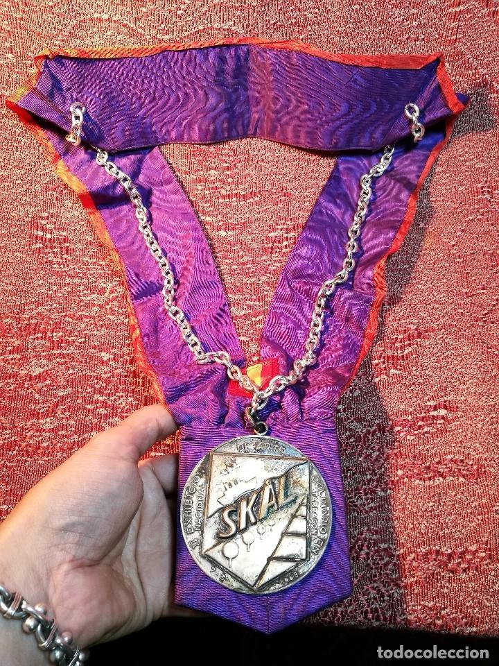 Medallas condecorativas: GRAN MEDALLON III EXHIBICION NACIONAL DE ARTE CULINARIO TARRAGONA 1969 SKAL -CHEF-COCINA---ESPAÑA - Foto 3 - 160658946