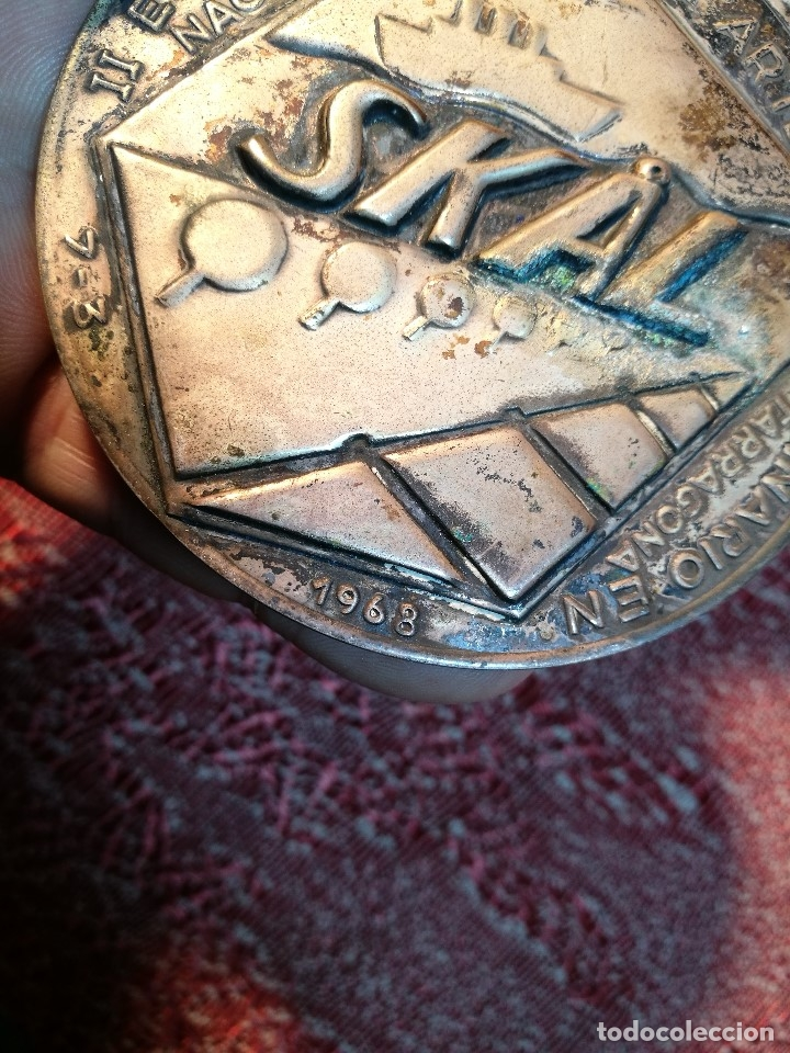 Medallas condecorativas: GRAN MEDALLON III EXHIBICION NACIONAL DE ARTE CULINARIO TARRAGONA 1969 SKAL -CHEF-COCINA---ESPAÑA - Foto 14 - 160658946