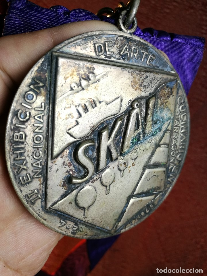 Medallas condecorativas: GRAN MEDALLON III EXHIBICION NACIONAL DE ARTE CULINARIO TARRAGONA 1969 SKAL -CHEF-COCINA---ESPAÑA - Foto 20 - 160658946