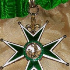 Medallas condecorativas: CRUZ DE COMENDADOR ORDEN DE SAN LÁZARO DE JERUSALEN,MINIATURA MERCADO FRANCES CON FLORES DE LIS.. Lote 170222881