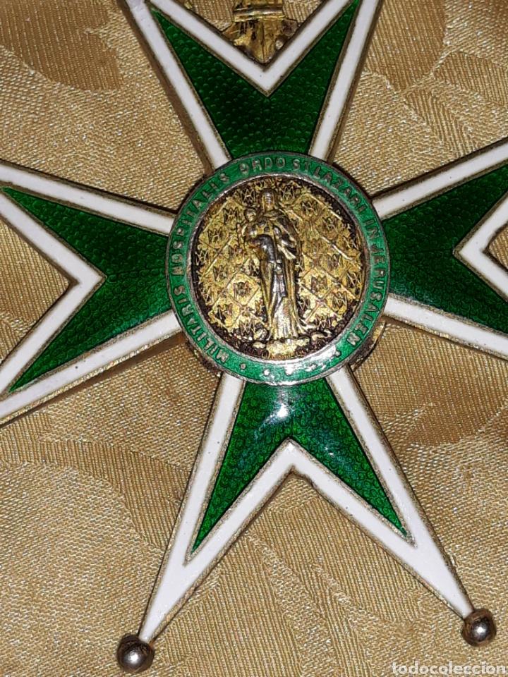 Medallas condecorativas: Cruz de comendador orden de San Lázaro de Jerusalen,miniatura Mercado Frances con flores de Lis. - Foto 2 - 170222881