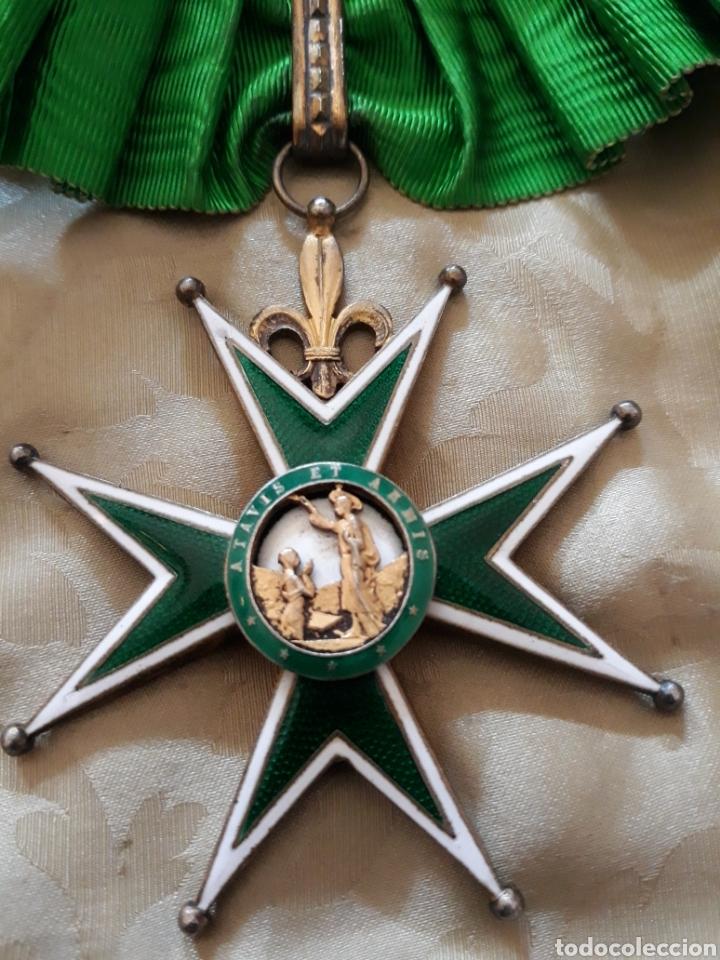 Medallas condecorativas: Cruz de comendador orden de San Lázaro de Jerusalen,miniatura Mercado Frances con flores de Lis. - Foto 3 - 170222881
