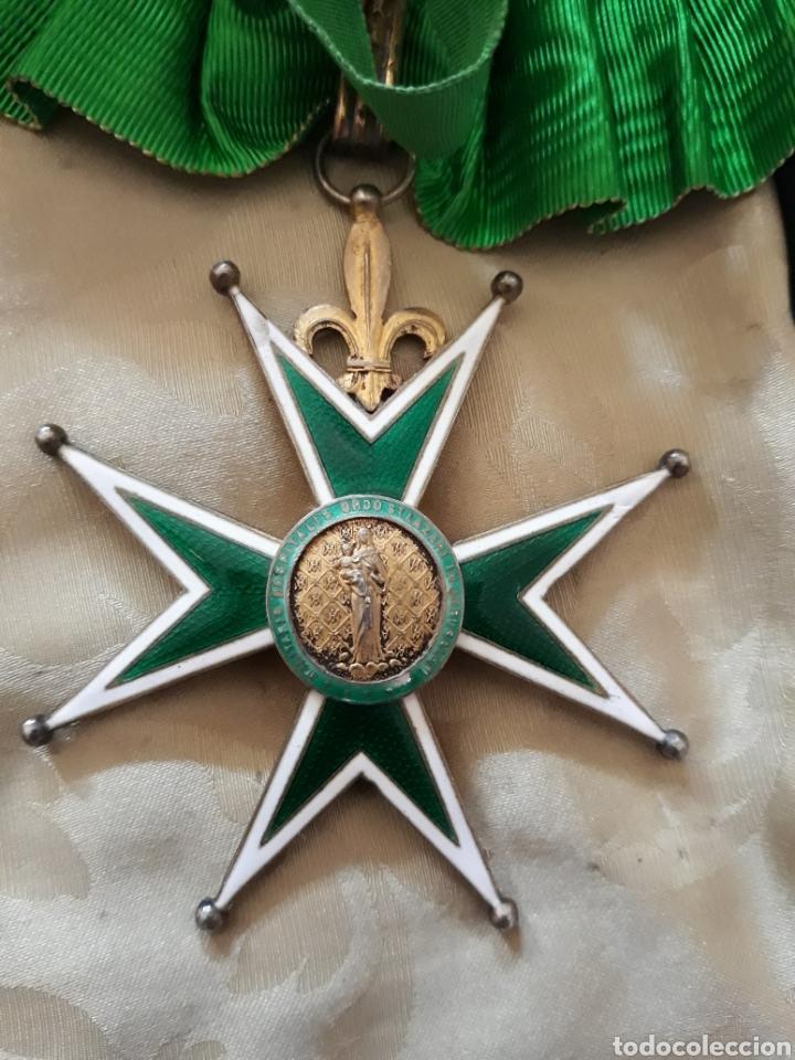Medallas condecorativas: Cruz de comendador orden de San Lázaro de Jerusalen,miniatura Mercado Frances con flores de Lis. - Foto 4 - 170222881