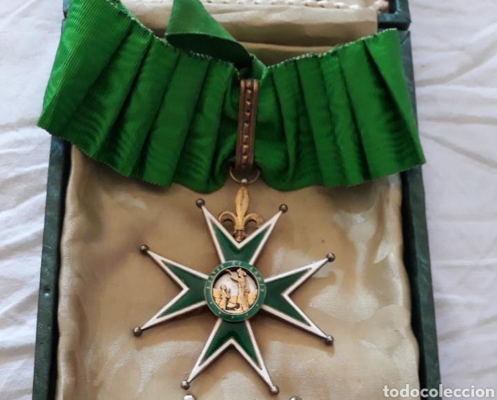 Medallas condecorativas: Cruz de comendador orden de San Lázaro de Jerusalen,miniatura Mercado Frances con flores de Lis. - Foto 5 - 170222881