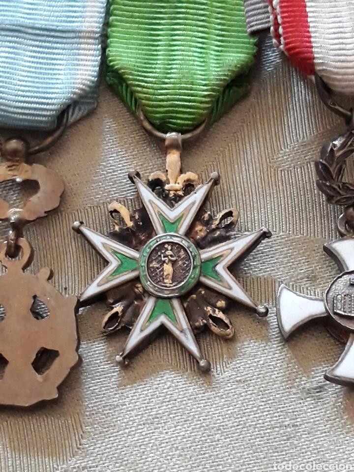 Medallas condecorativas: Cruz de comendador orden de San Lázaro de Jerusalen,miniatura Mercado Frances con flores de Lis. - Foto 6 - 170222881