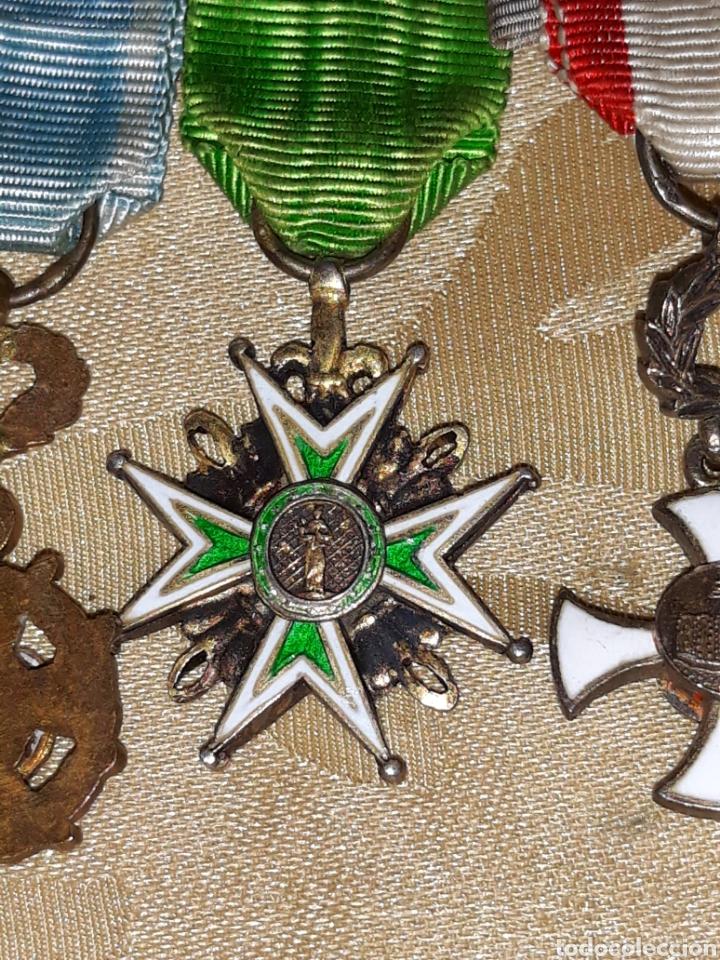 Medallas condecorativas: Cruz de comendador orden de San Lázaro de Jerusalen,miniatura Mercado Frances con flores de Lis. - Foto 7 - 170222881