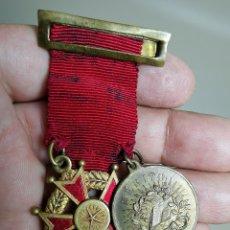 Medallas condecorativas: PAREJA MEDALLAS MERITO ESCOLAR, COLEGIO- ESPAÑA. Lote 174984759
