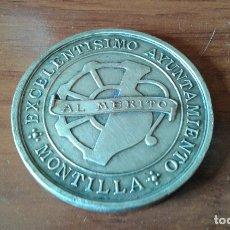 Medallas condecorativas: EXCELENTISIMO AYUNTAMIENTO DE MONTILLA - MEDALLA AL MERITO - NO FIGURA FECHA. Lote 180926797