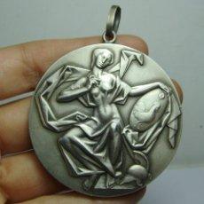Medallas condecorativas: MEDALLA ACADEMIA DE BELLAS ARTES SANTA CECILIA. PLATA. PTO. SANTA MARÍA. GRABADOR FERNANDO JESÚS. Lote 185999105