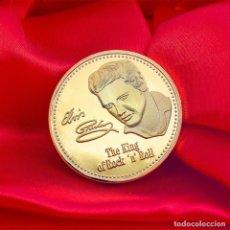 Medallas condecorativas: PRECIOSA MONEDA CONMEMORATIVA DE ORO DEL REY DEL ROCK, ELVIS PRESLEY (EDICIÓN LIMITADA). Lote 186000816