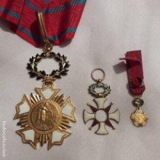 Medallas condecorativas: LOTE DE MEDALLAS AUTÉNTICAS ESMALTADAS PATRIE ART HUMANISME CIVISME. Lote 186333421