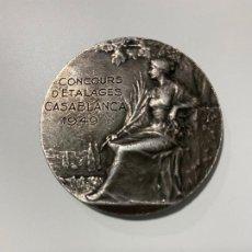 Medallas condecorativas: RENE BAUDICHON MEDALLA DE PLATA , MEDAL SILVER . CASABLANCA 1949 ,. Lote 188639785