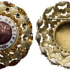 Medallas condecorativas: S. XIX. PADROEIRA DO REINO. MARÍA AUXILIADORA PATRONA DEL REINO. PORTUGAL O BRASIL. SC. ESACASA. Lote 189738060