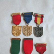 Medallas condecorativas: LOTE DE 6 MEDALLAS DEL COLEGIO DE NUESTRA SEÑORA DEL RECUERDO CHAMARTIN.. Lote 190544490