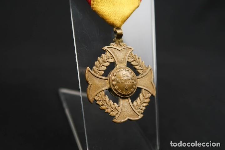 ANTIGUA MEDALLA AL MERITO (Numismática - Medallería - Condecoraciones)