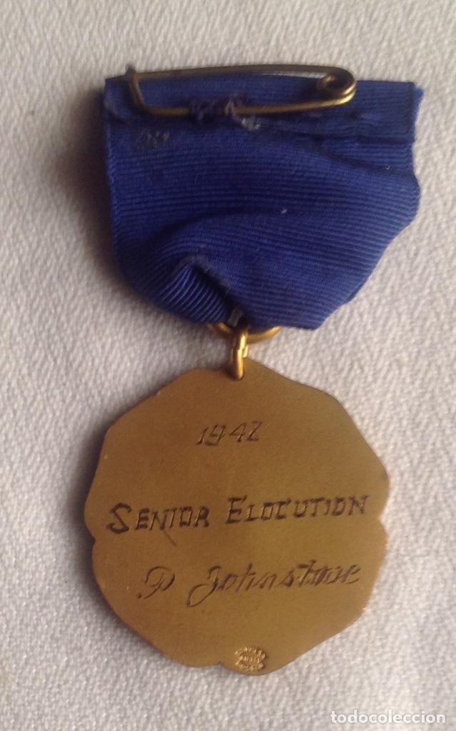 Medallas condecorativas: 1948 MEDALLA ANTIGUA SENIOR ELOCUTION, CON INICIALES - Foto 7 - 193965273