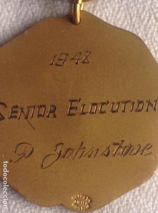 Medallas condecorativas: 1948 MEDALLA ANTIGUA SENIOR ELOCUTION, CON INICIALES - Foto 8 - 193965273