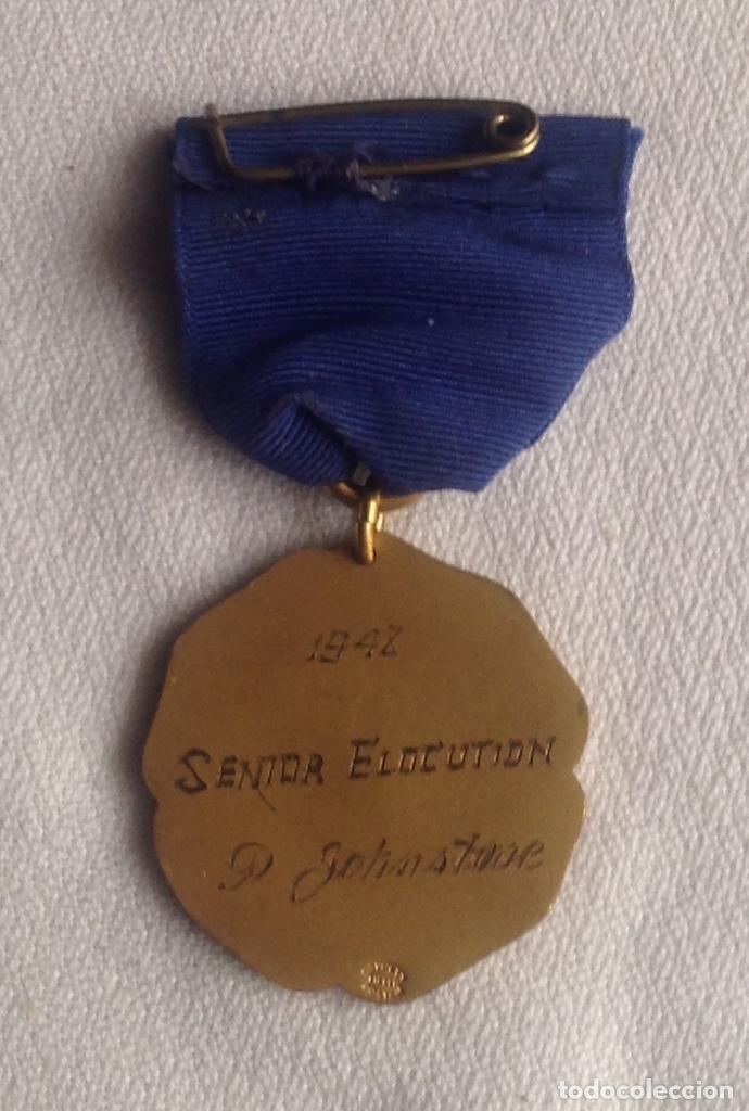 Medallas condecorativas: 1948 MEDALLA ANTIGUA SENIOR ELOCUTION, CON INICIALES - Foto 10 - 193965273