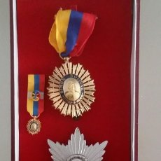 Medallas condecorativas: EXTINTA CONDECORACIÓN ORDEN LIBERTADOR SIMÓN BOLÍVAR. 3 A. CLASE. COMENDADOR. TIENE 6 PIEZAS. Lote 97620599