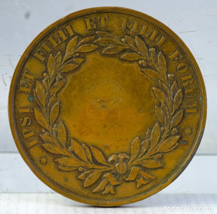 Medallas condecorativas: Medalla en cobre Medalla Victor de Lanneau-Sainte Barbe-Alexandre Labrousse 1880 - 50 mm - Foto 2 - 194614336