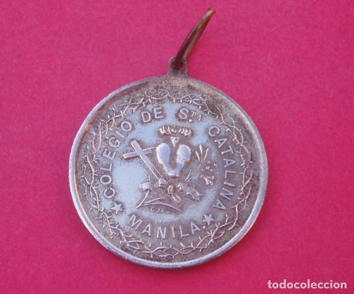 MEDALLA PREMIO A LA APLICACIÓN SIGLO XIX COLEGIO SANTA CATALINA DE SIENA. MANILA. FILIPINAS. (Numismática - Medallería - Condecoraciones)