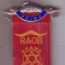 Medallas condecorativas: CONDECORACIÓN MASÓNICA DE 1970 CON LEYENDA EN REVERSO. Lote 198133878