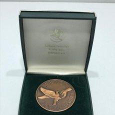 Medallas condecorativas: MEDALLA CAMPEONATO DE VUELO DE PALOMAS. Lote 205047995