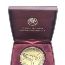 Medallas condecorativas: MEDALLA CAMPEONATO DE VUELO DE PALOMAS (2). Lote 205048698