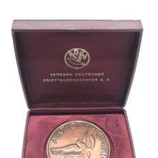 Medallas condecorativas: MEDALLA CAMPEONATO DE VUELO DE PALOMAS (3). Lote 205048797