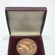 Medallas condecorativas: MEDALLA CAMPEONATO DE VUELO DE PALOMAS (4). Lote 205048900