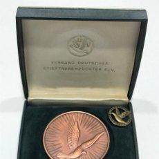 Medallas condecorativas: MEDALLA CAMPEONATO DE VUELO DE PALOMAS MAS BROCHE (2). Lote 205049286