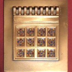 Medallas condecorativas: FANTÁSTICA PLACA DE BAGUES, CON ESMALTES DE MASRIERA, DEL PALAU DE LA MÚSICA CATALANA.. Lote 207119533