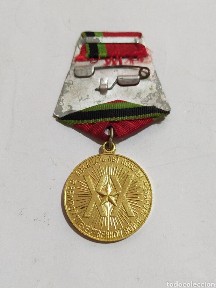 Medallas condecorativas: MEDALLA MILITAR SOVIETICA CON DOCUMENTO 1945-1965 - Foto 2 - 209837448