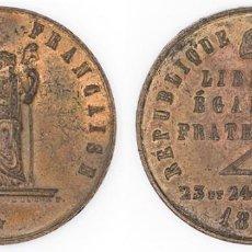 Medallas condecorativas: GOBIERNO FRANCÉS. 1848. MEDALLA DE LA REVOLUCIÓN DEL 23 Y 24 DE FEBRERO EBC. Lote 210351216