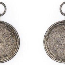 Medallas condecorativas: LICEO DE SAN JUAN. S.F. MEDALLA AL MÉRITO. PLATA EBC. Lote 210351445