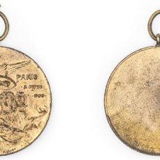 Medallas condecorativas: ALFONSO XIII. 1905. MEDALLA DE LA VISITA DE ALFONSO XIII A PARÍS. 25 GR. EBC. Lote 210351685