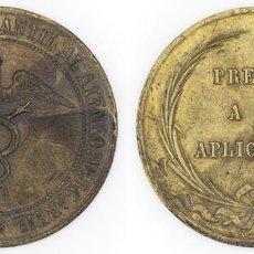Medallas condecorativas: S. XIX-PPIOS XX. MEDALLA EL CÍRCULO DE LA UNIÓN MERCANTIL AL ATENEO MERCANTIL PREMIO A LA APLICACIÓN. Lote 210393760