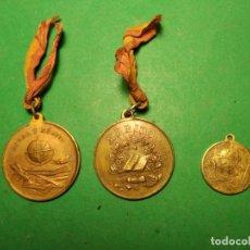 Medallas condecorativas: 3 DISTINTAS. MEDALLA A LA APLICACIÓN, AL MÉRITO Y AL HONOR. S. XIX-PPIOS XX . ¡¡¡LIQUIDACION COLEC. Lote 210545780