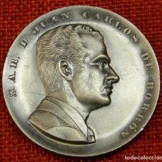 Medallas condecorativas: S.A.R. D. JUAN CARLOS DE BORBÓN - PRINCIPE DE ESPAÑA - 23 JULIO 1969 - AUTOR: PUJOL. Lote 210954529
